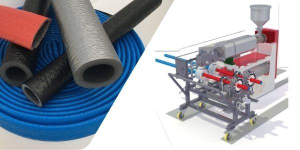 Pe foam pipe coating machine