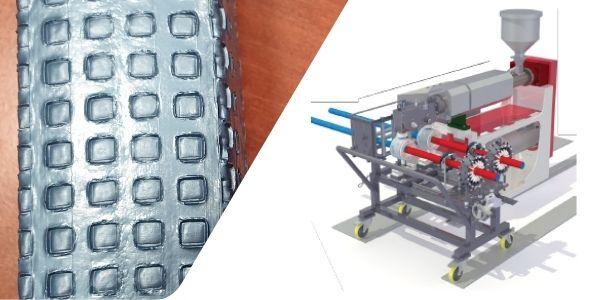 Pe foam profile and pipe embossing machine